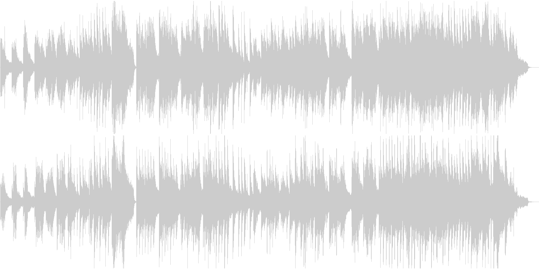 甘く切ない恋愛のようなピアノソロ 約3分の未再生の波形