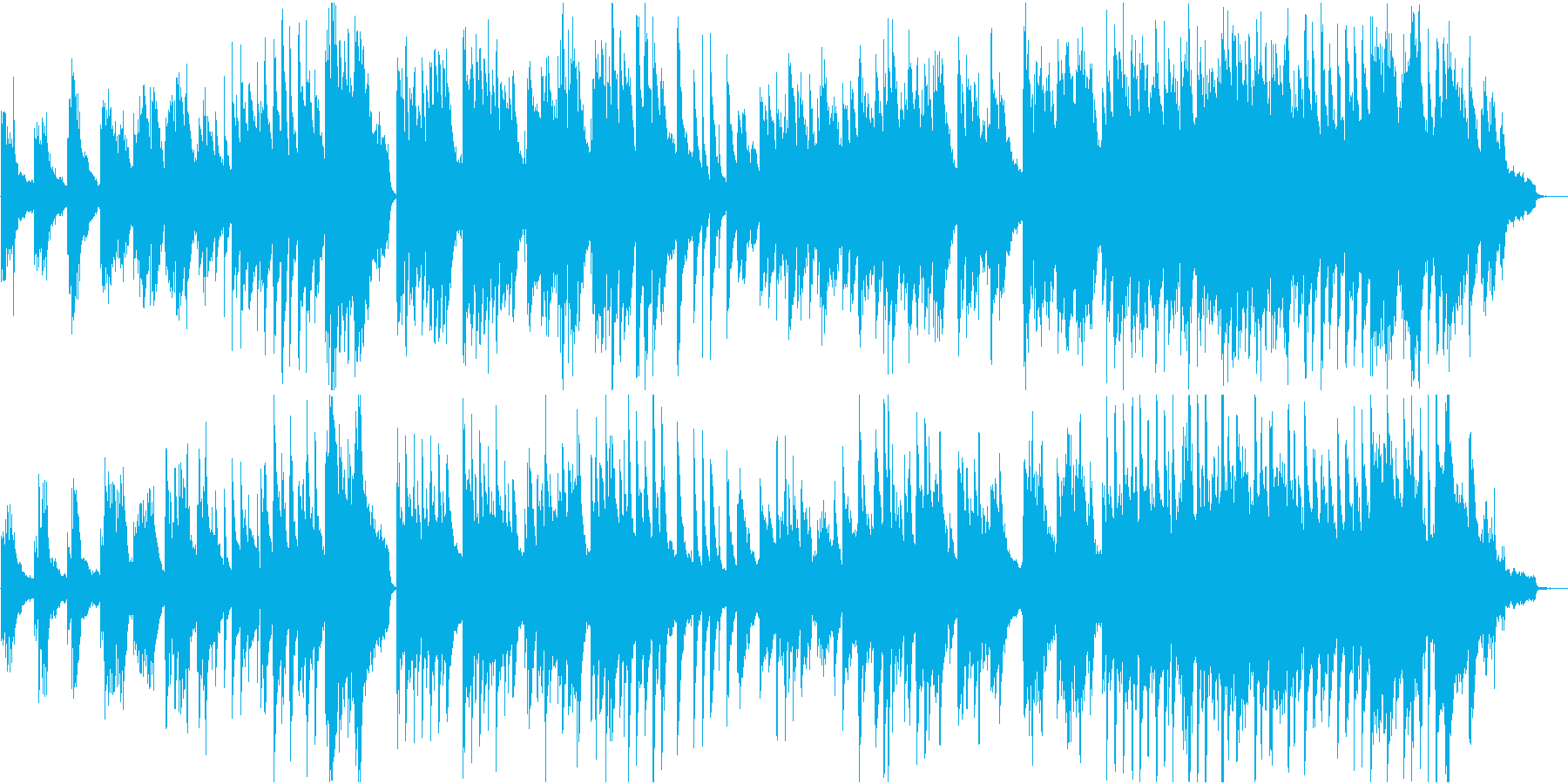 甘く切ない恋愛のようなピアノソロ 約3分の再生済みの波形