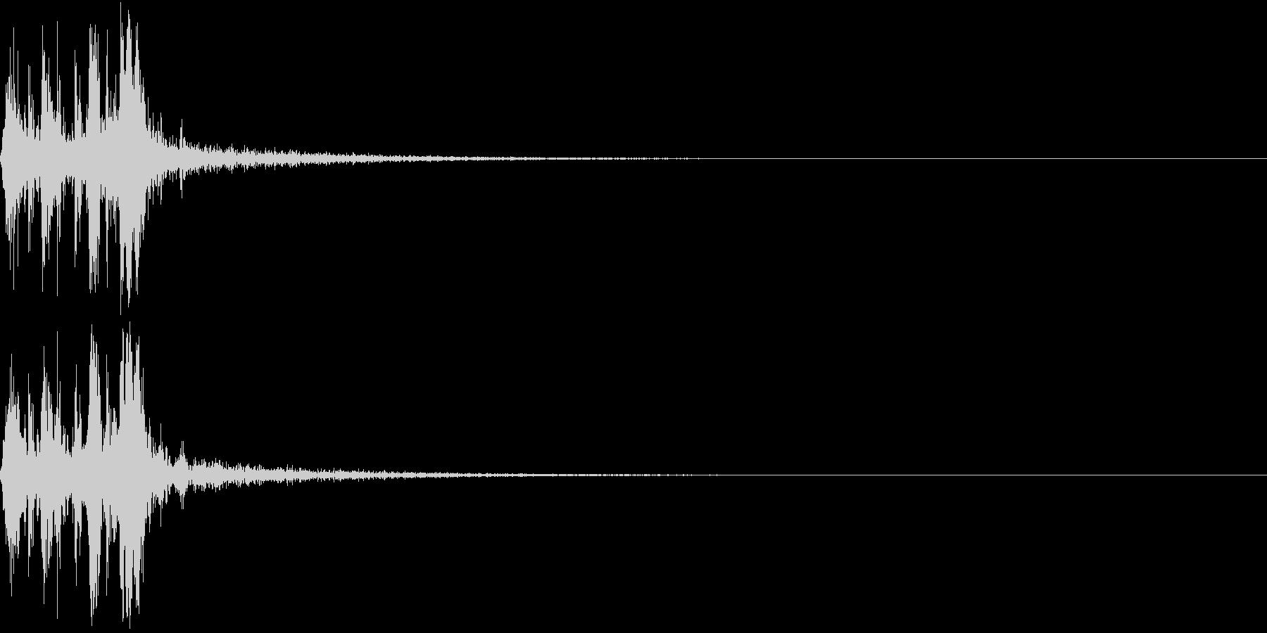 Camera 室内撮影 シャッター音 4の未再生の波形