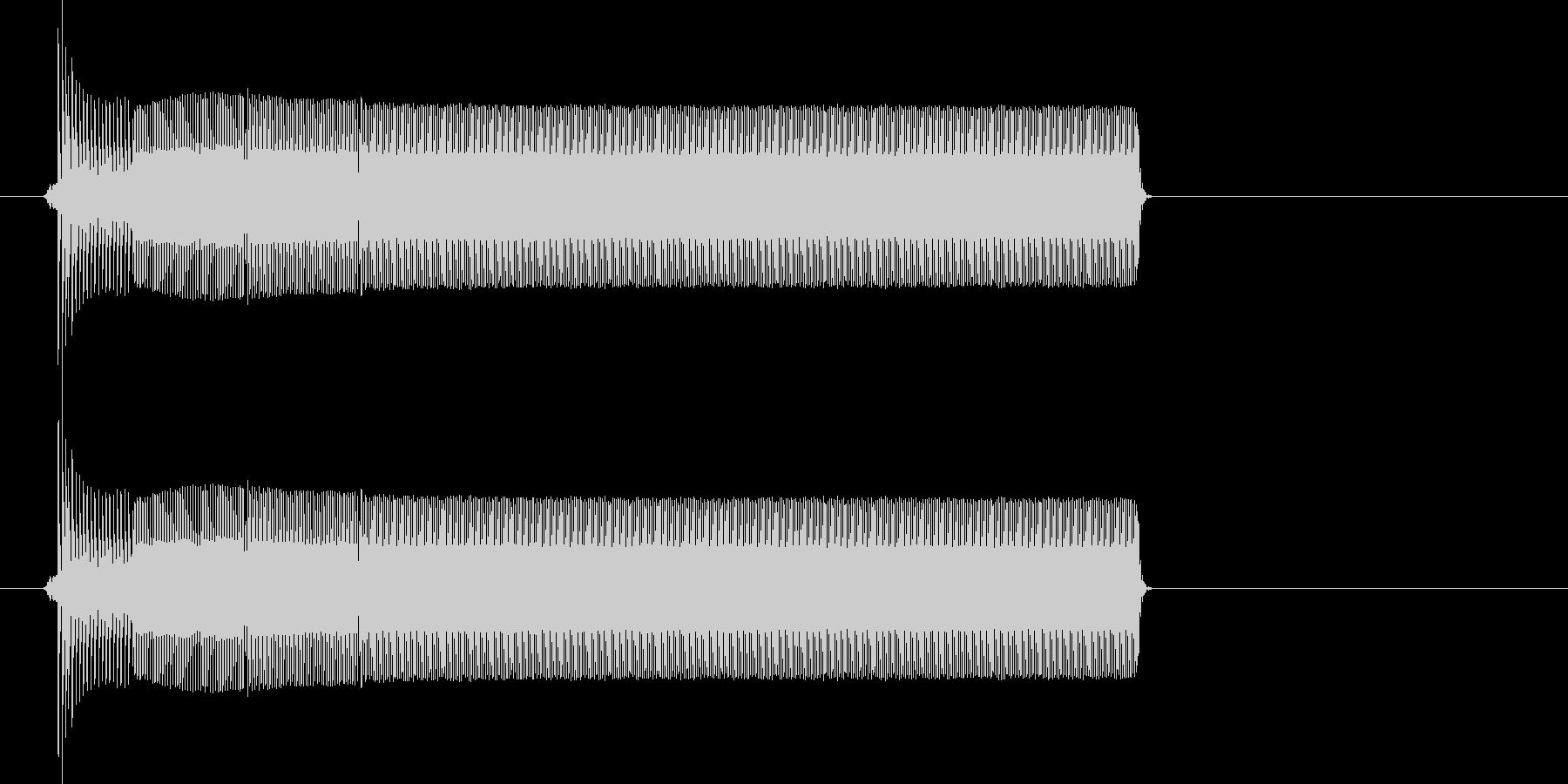 ポロリー(電子音、決定、アプリ)の未再生の波形