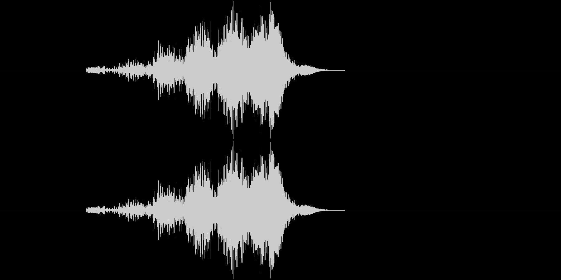 小さいものが急に大きくなるイメージ音の未再生の波形
