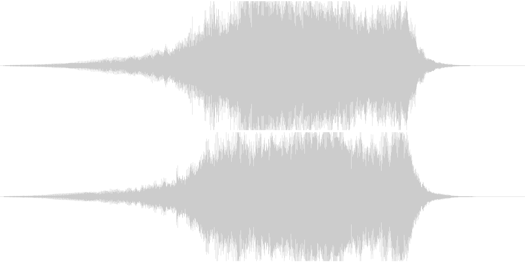 重厚なシンセ系サウンドロゴ3の未再生の波形
