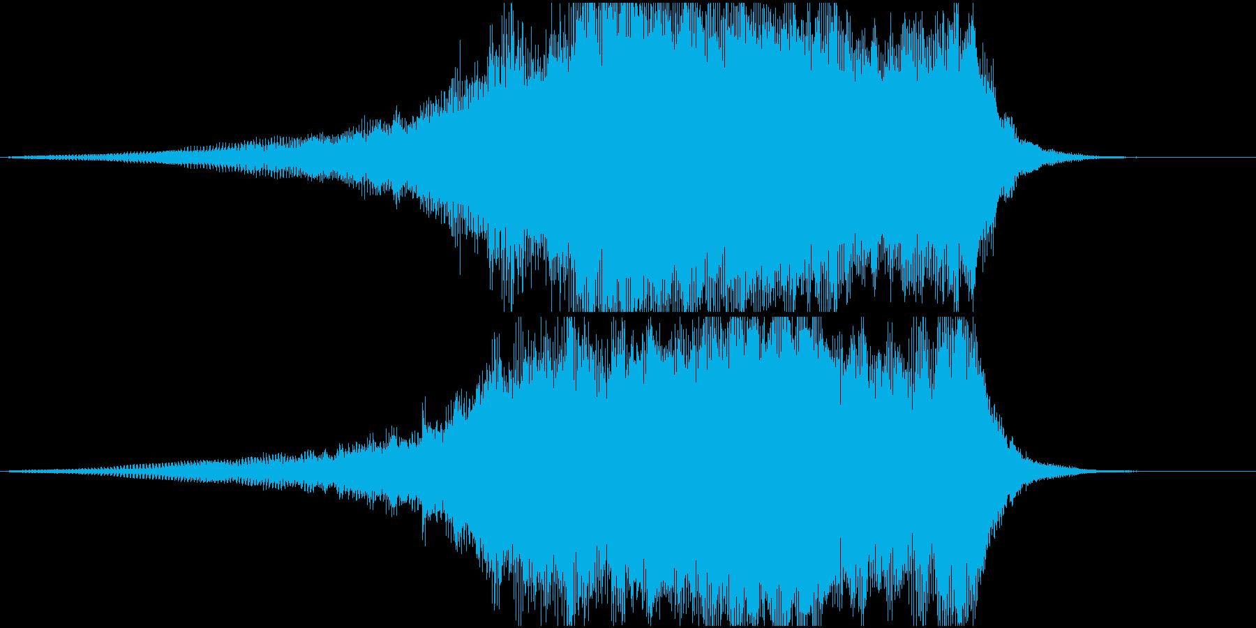 重厚なシンセ系サウンドロゴ3の再生済みの波形