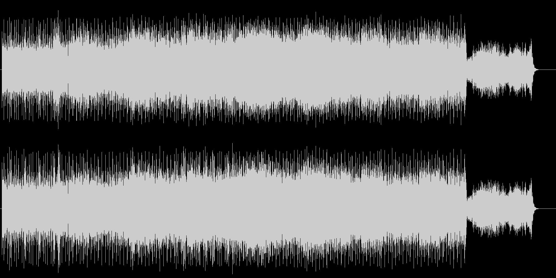 前衛的でダンサブルなテクノ/BGの未再生の波形