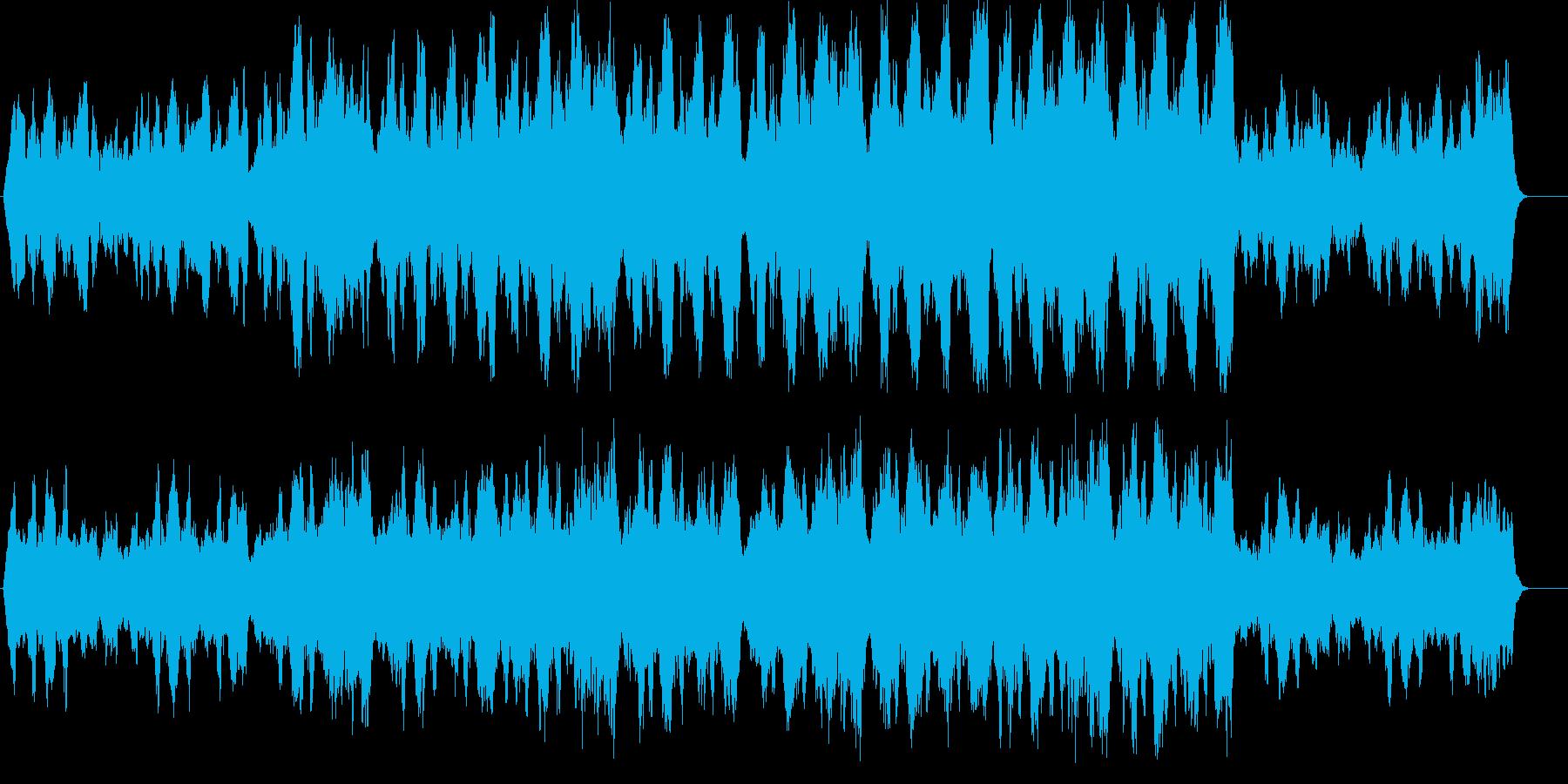 荘厳で上品な雰囲気のストリングス曲の再生済みの波形