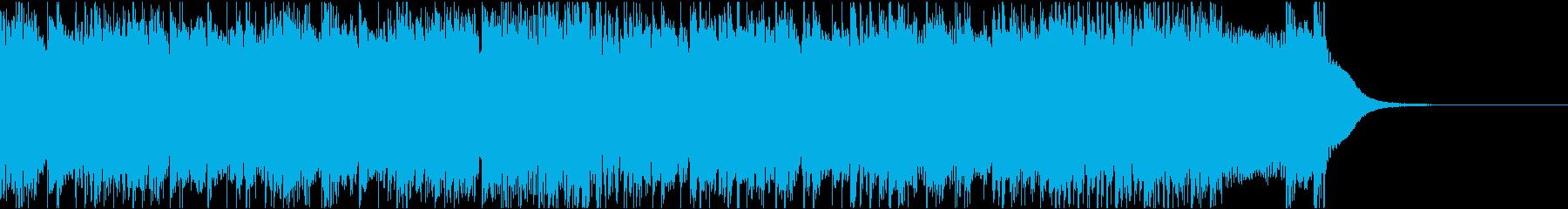 疾走感溢れるハードロック風ジングルの再生済みの波形