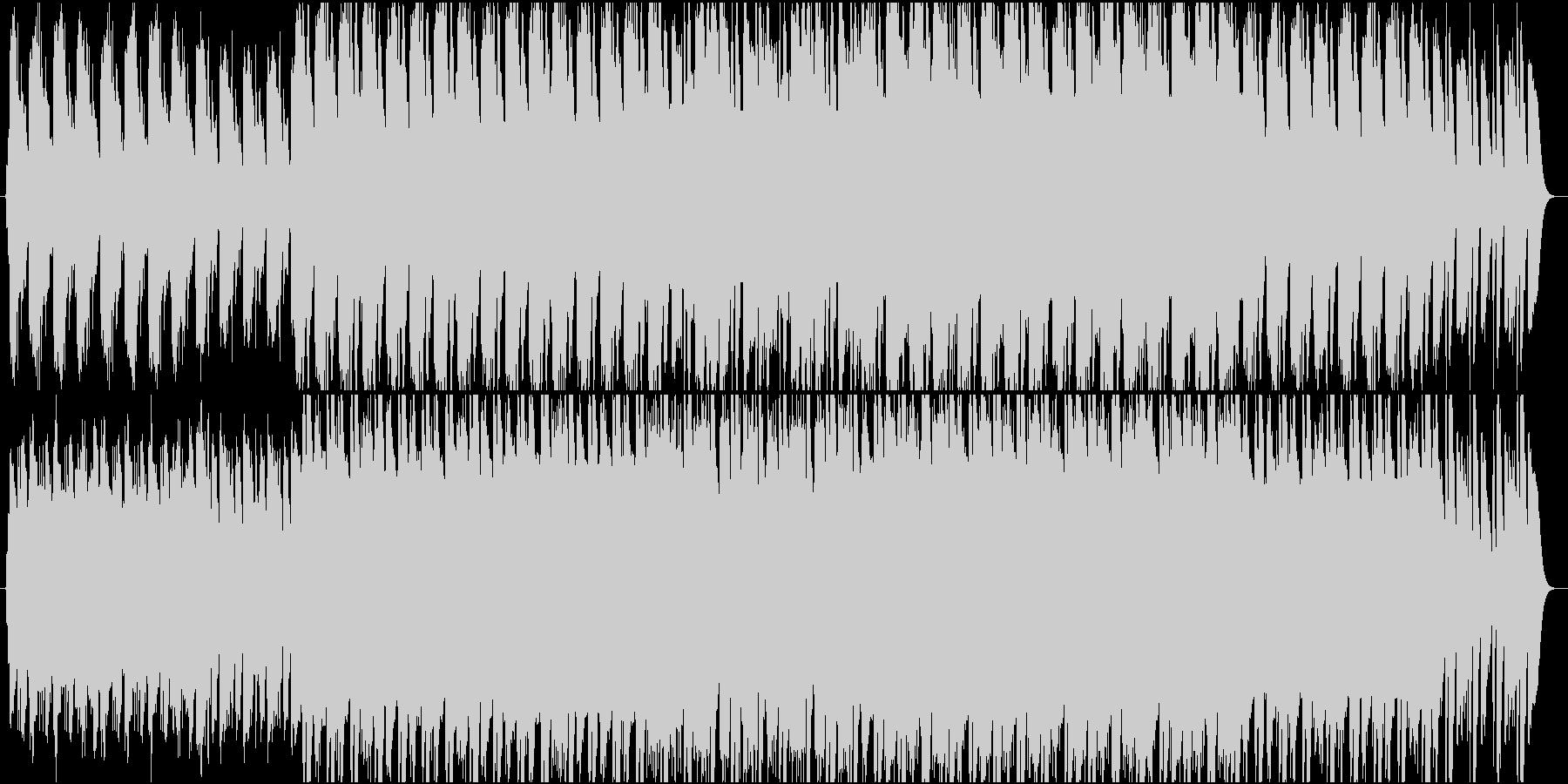 和風で落ち着いた雰囲気のBGMの未再生の波形