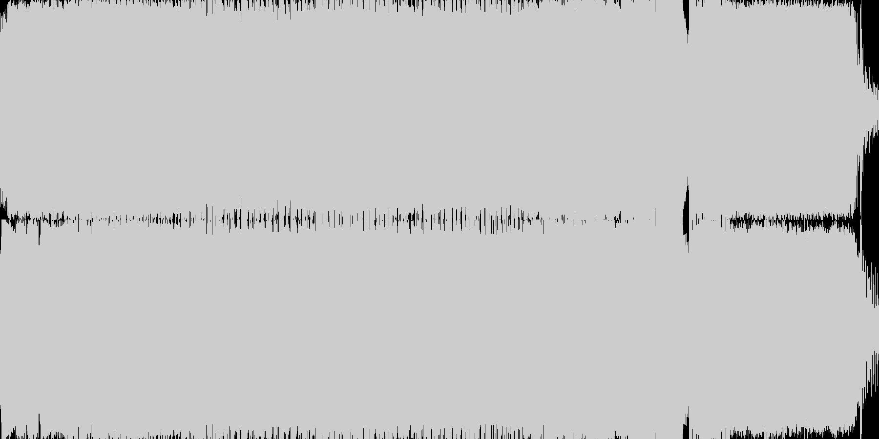 サイケデリックテクノトランスの未再生の波形