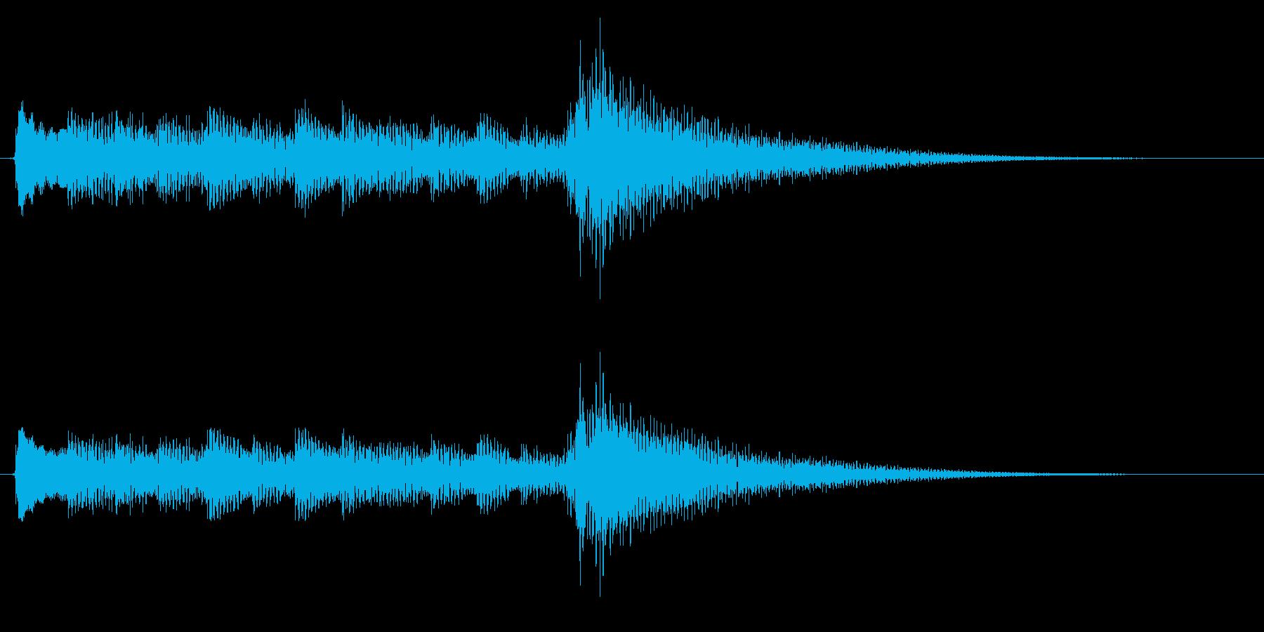 アコースティックギターソロのジングルの再生済みの波形