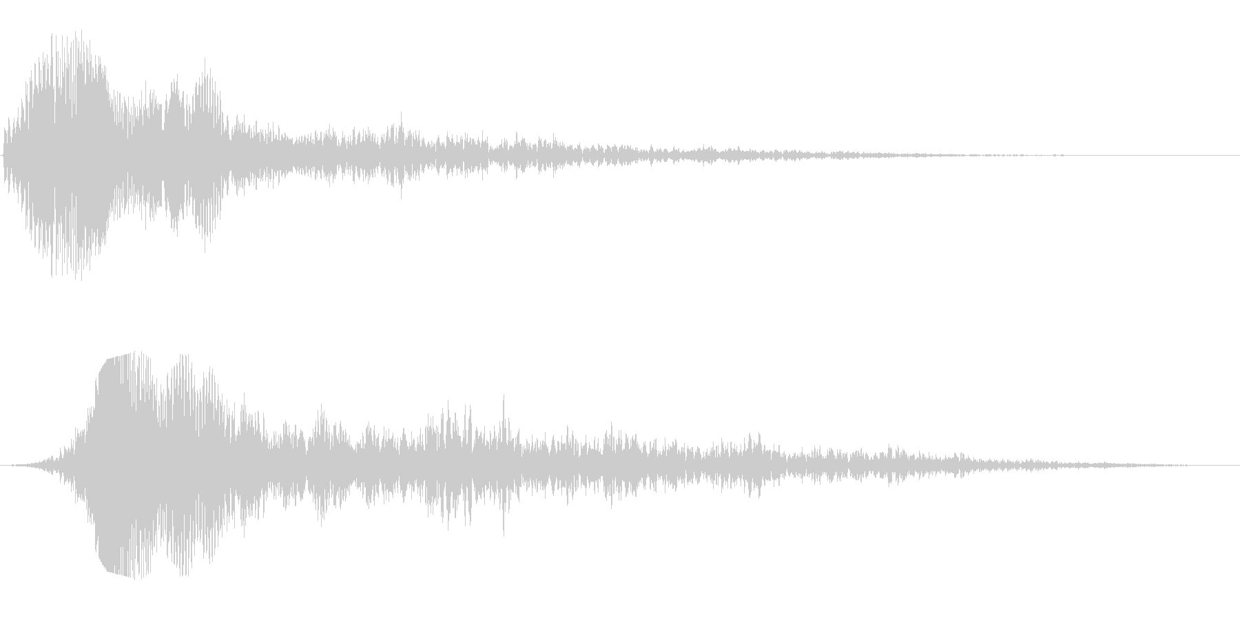 ヒュワワーン(SF感のある通過音)の未再生の波形