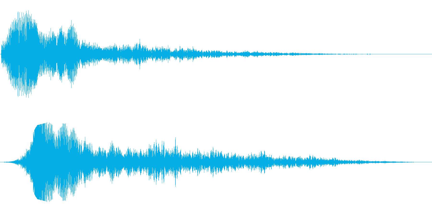 ヒュワワーン(SF感のある通過音)の再生済みの波形