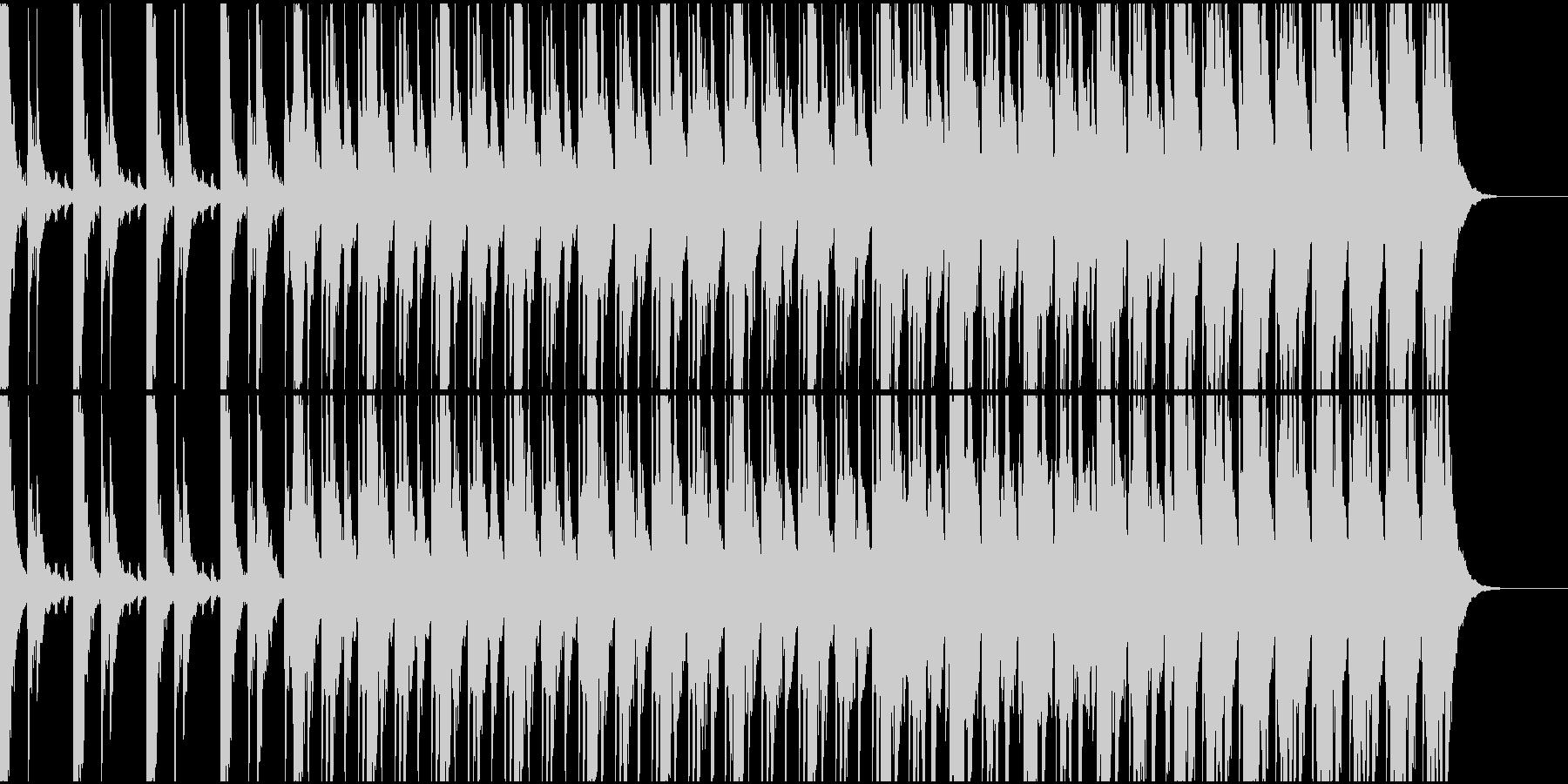 厳かな和太鼓メインのリズム楽曲の未再生の波形