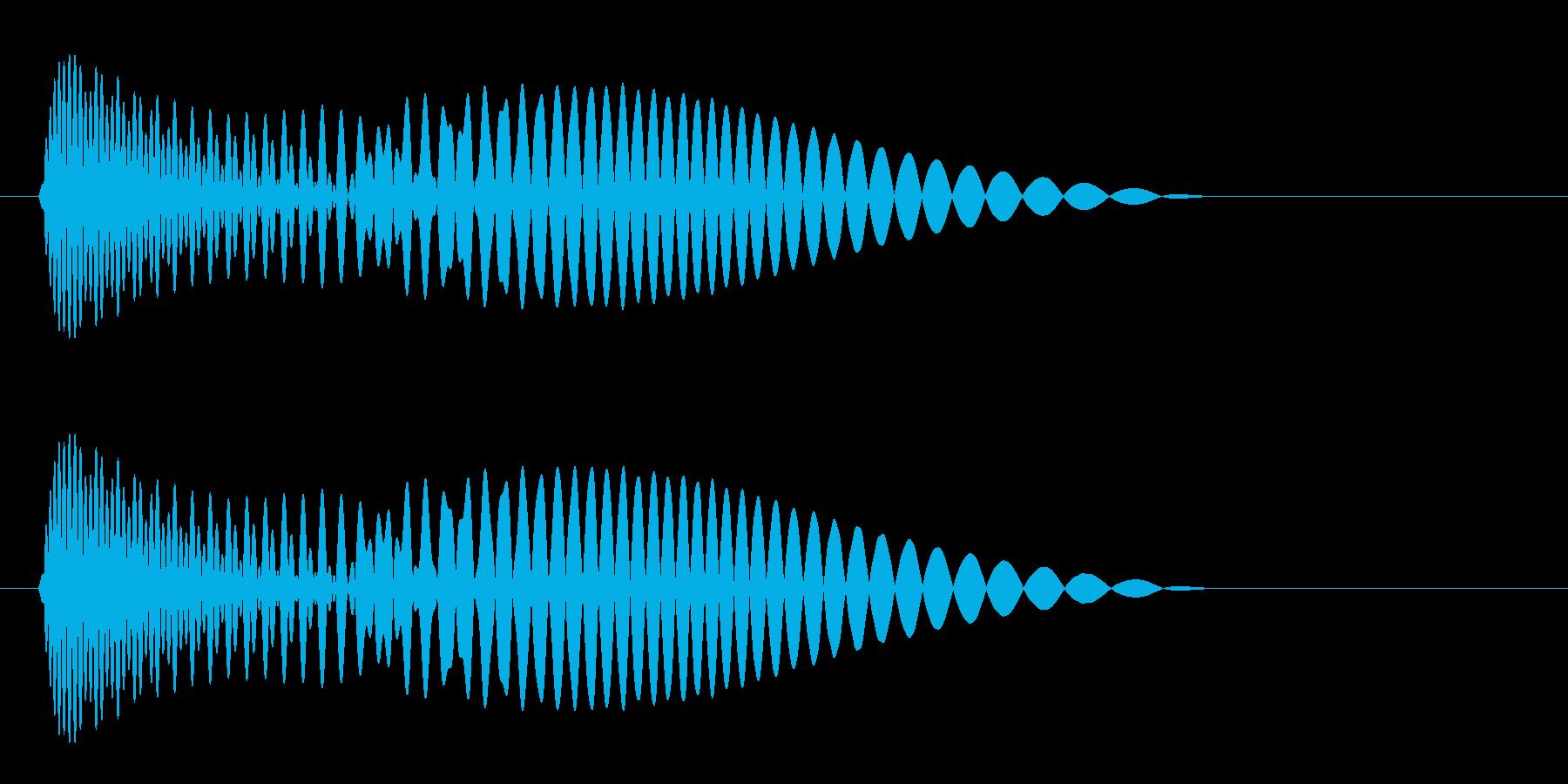 ポォォン(コミカル)の再生済みの波形