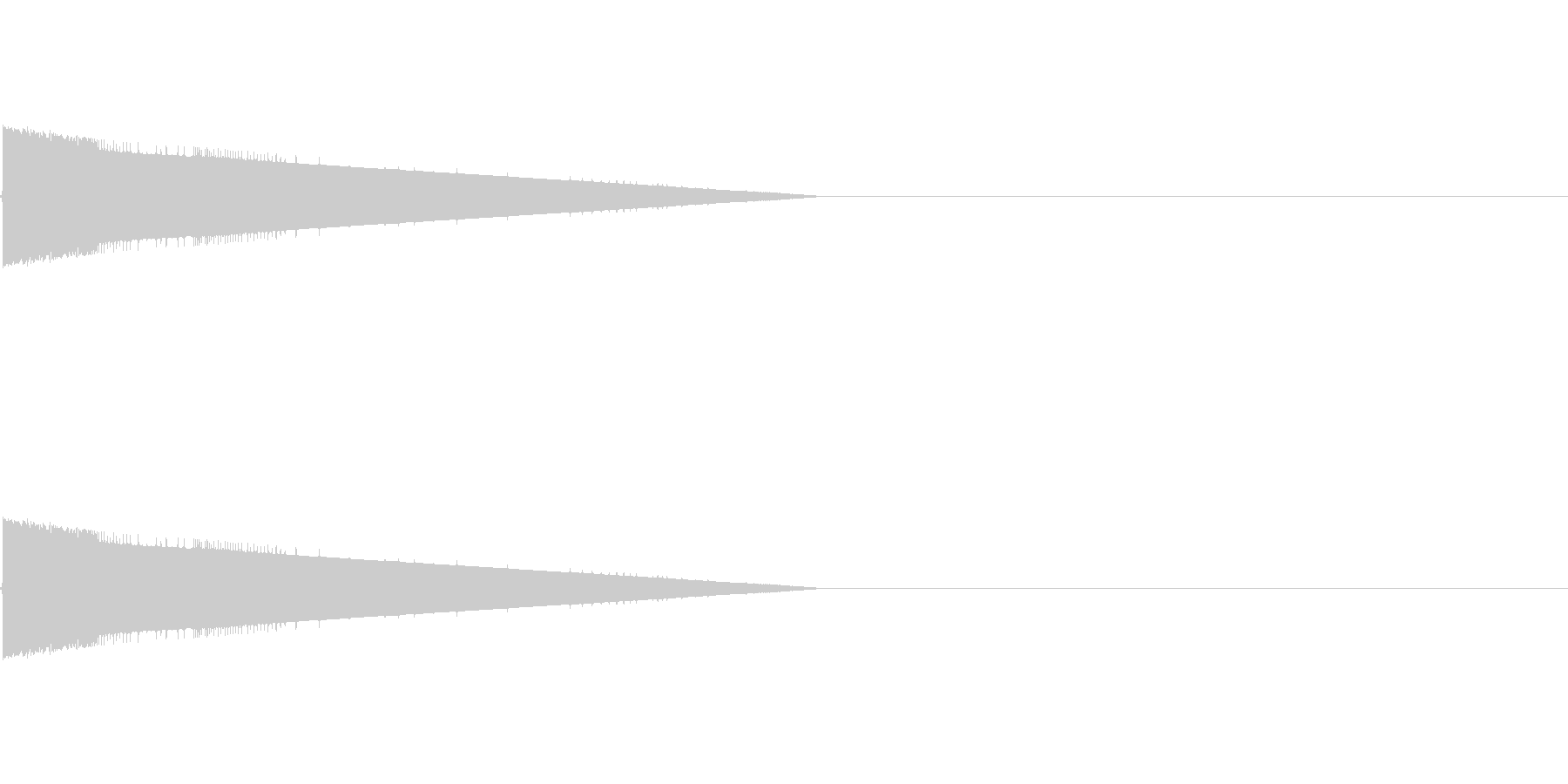 レトロゲーム風爆発音2の未再生の波形