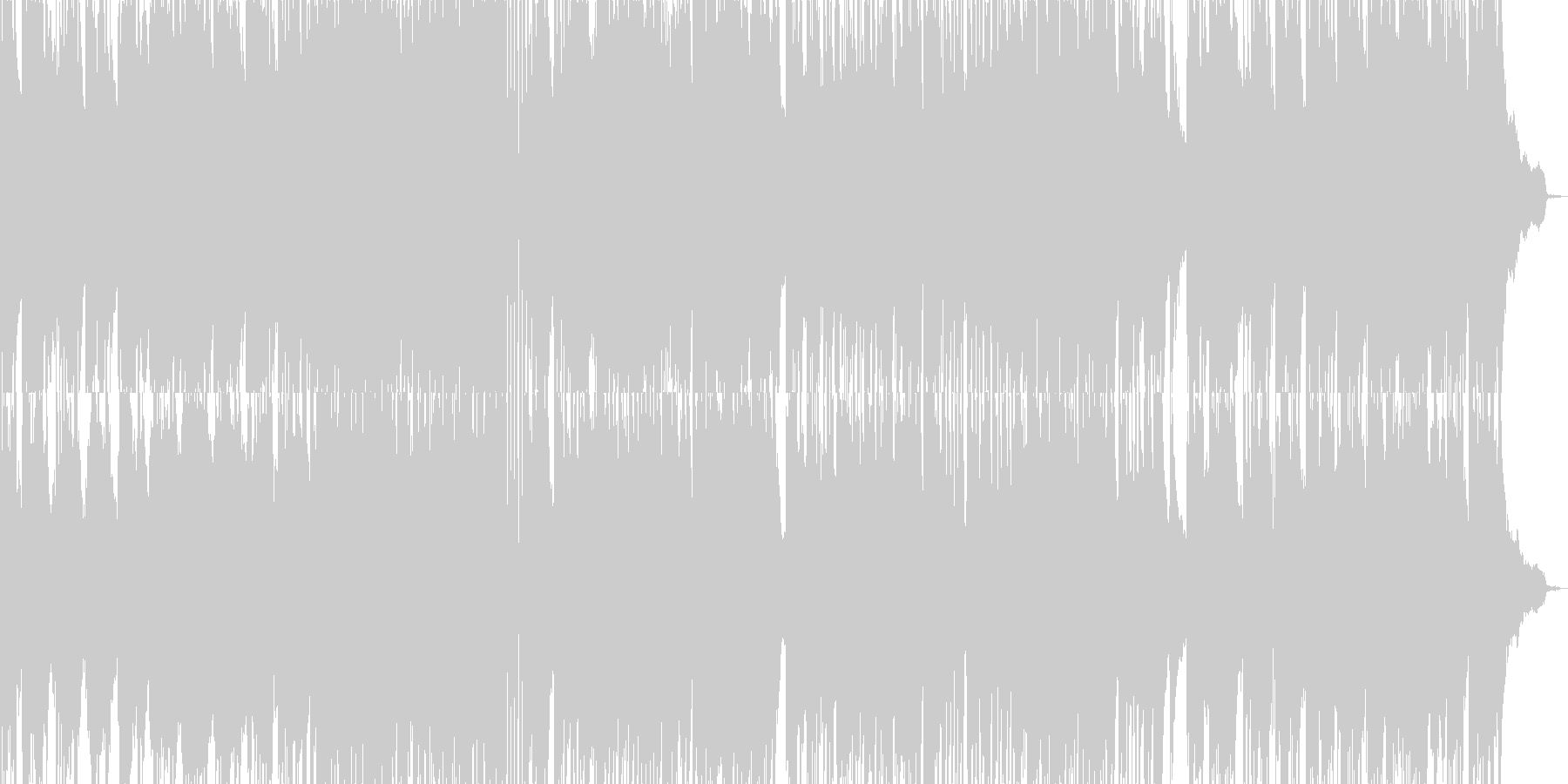 「朝露」をイメージした爽やかなピアノの未再生の波形