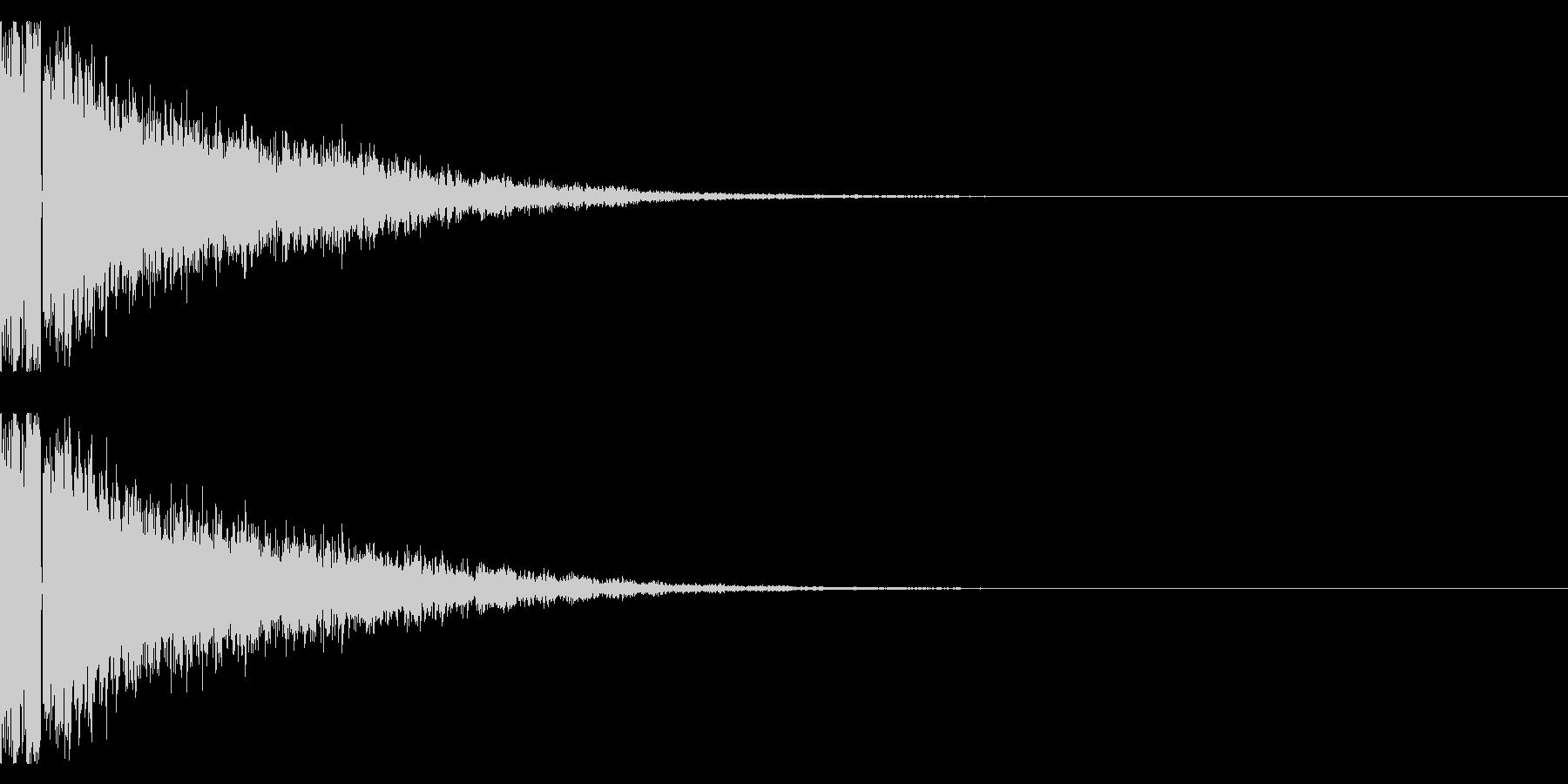 鉄系『ガキーン』の未再生の波形