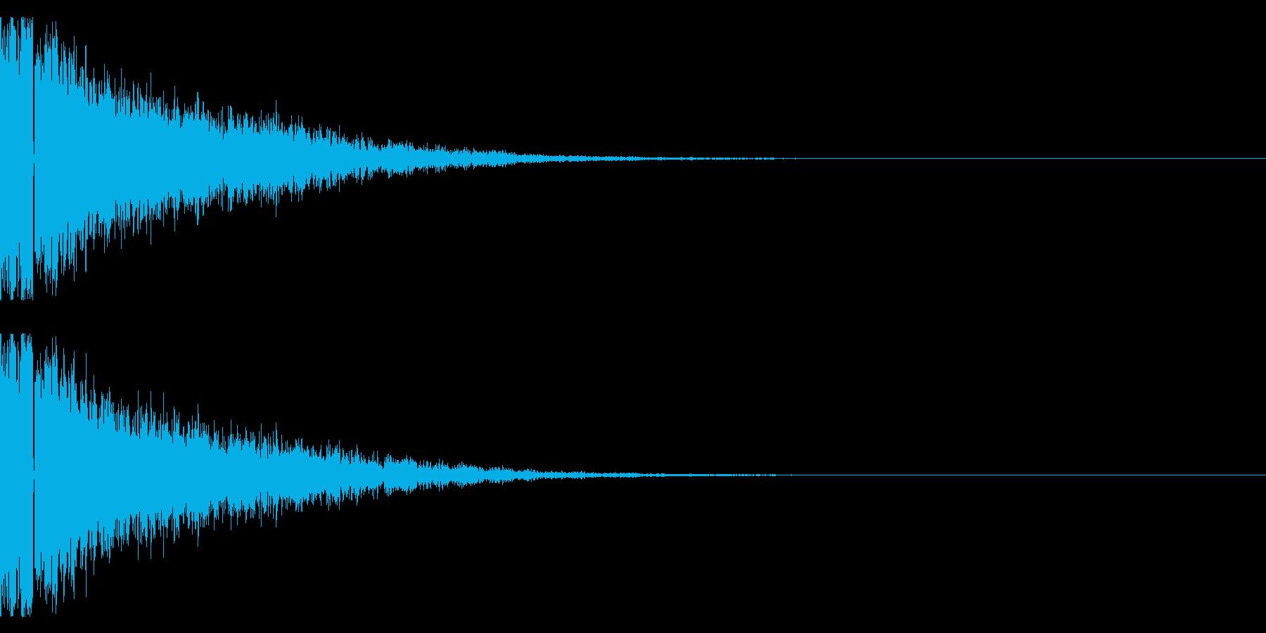 鉄系『ガキーン』の再生済みの波形