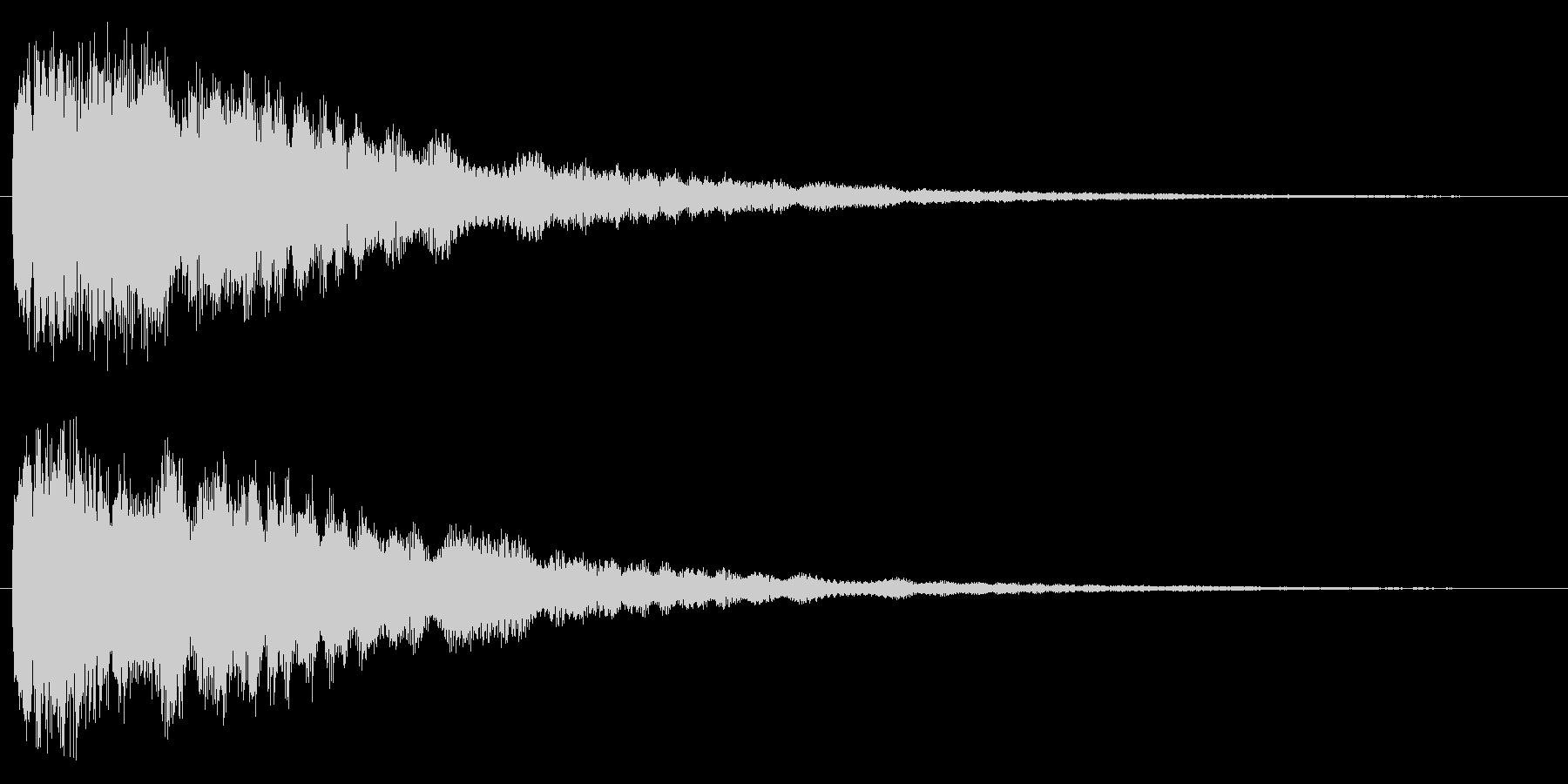 ひらめいた時の効果音の未再生の波形