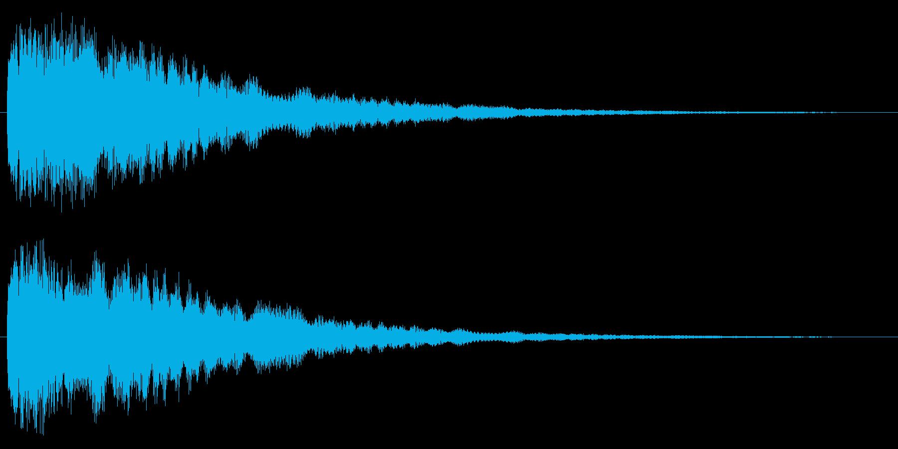 ひらめいた時の効果音の再生済みの波形