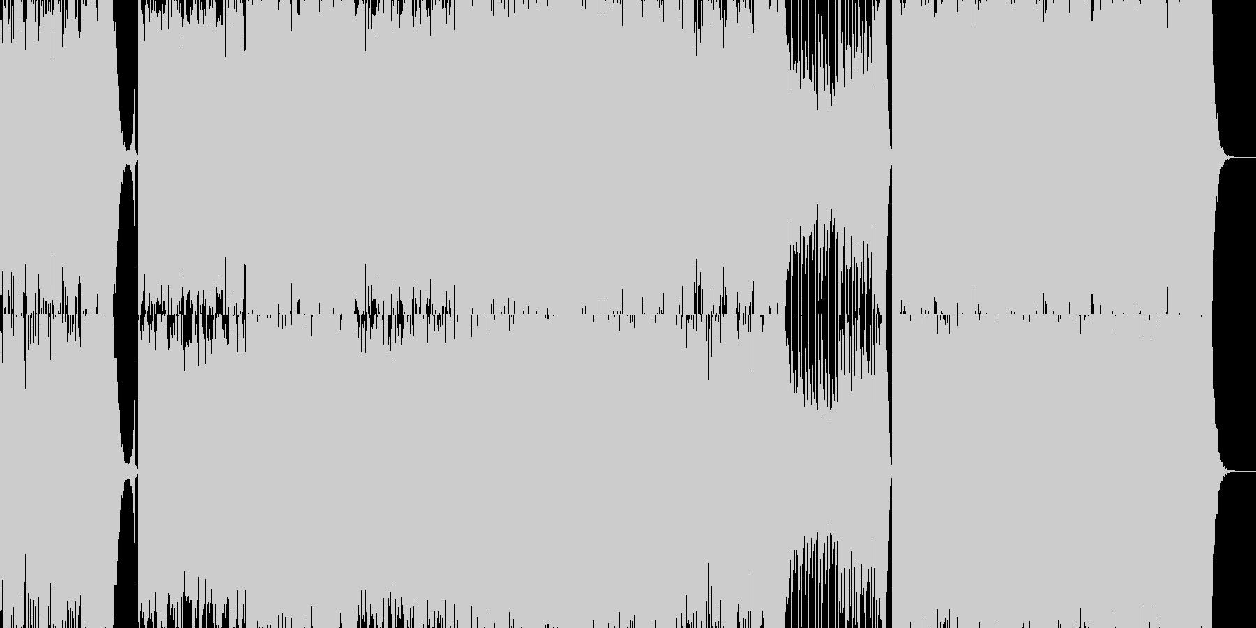 結婚行進曲(メンデルスゾーン)テクノの未再生の波形