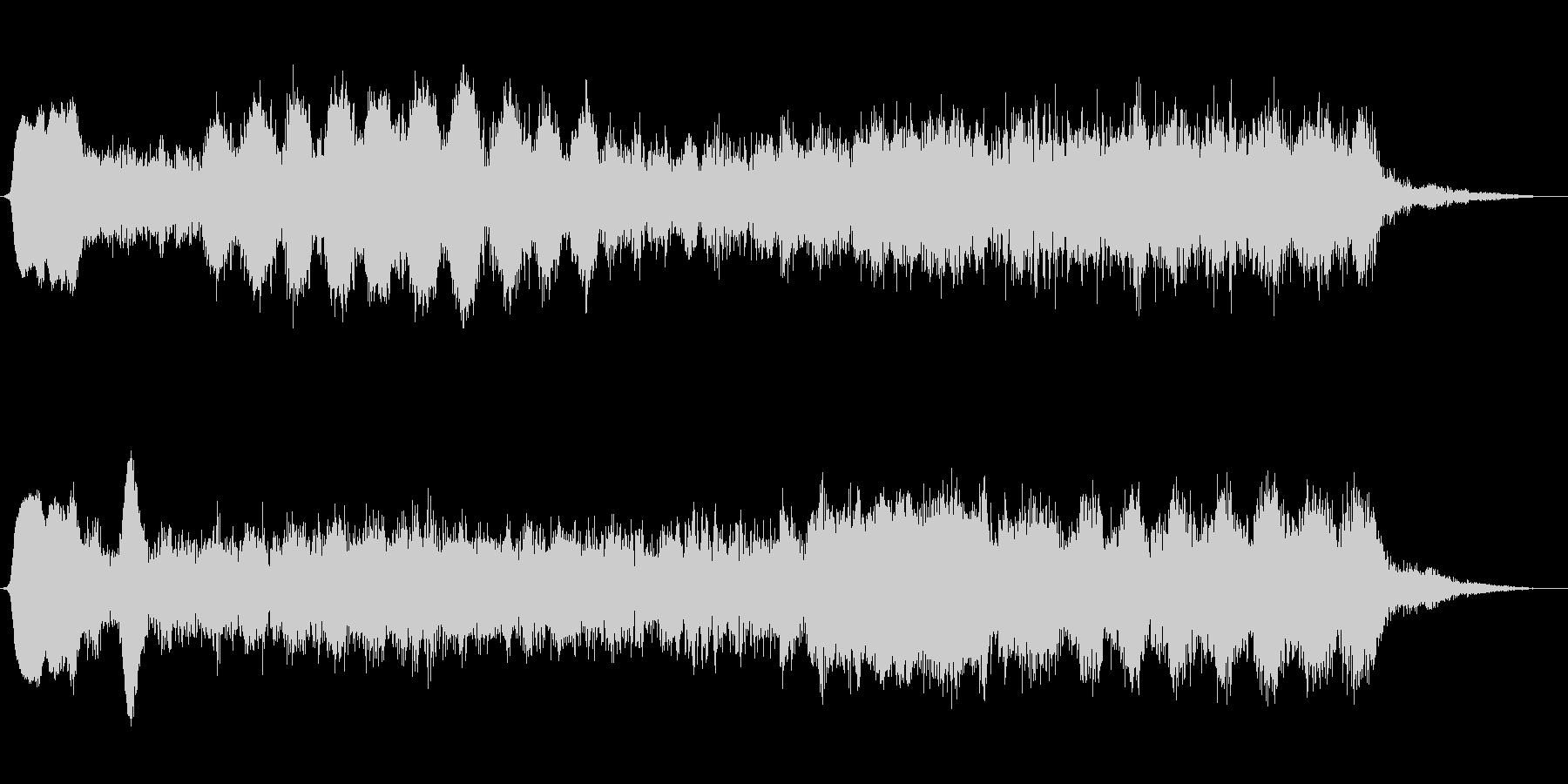 ミステリアスなショートBGMの未再生の波形