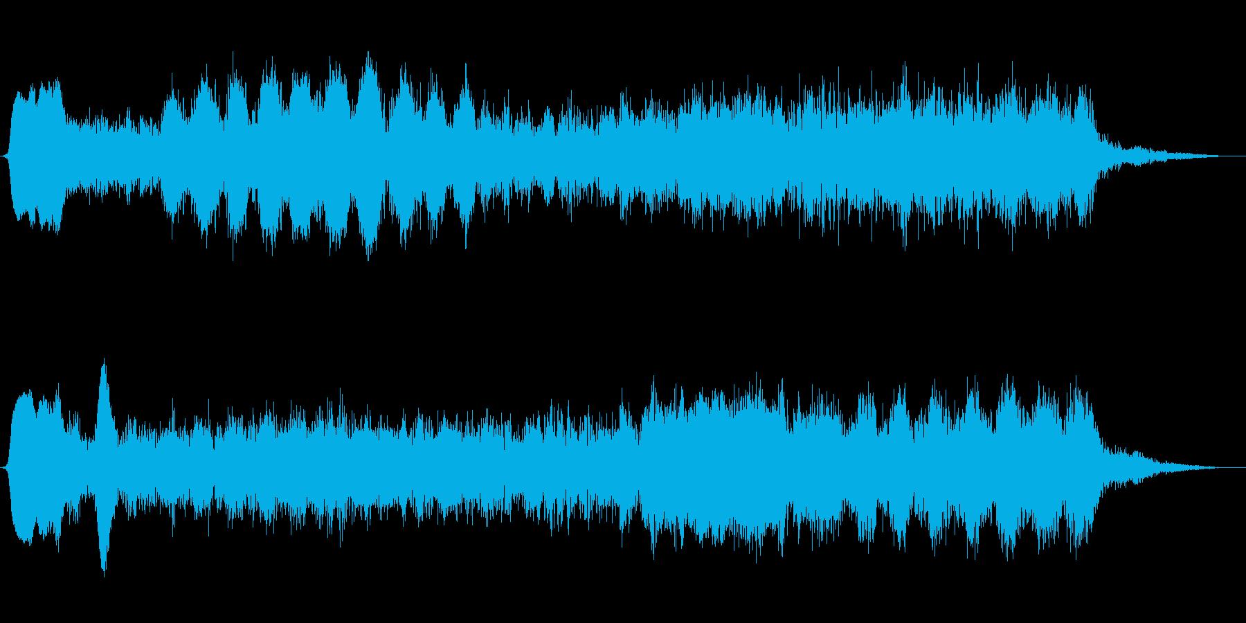ミステリアスなショートBGMの再生済みの波形