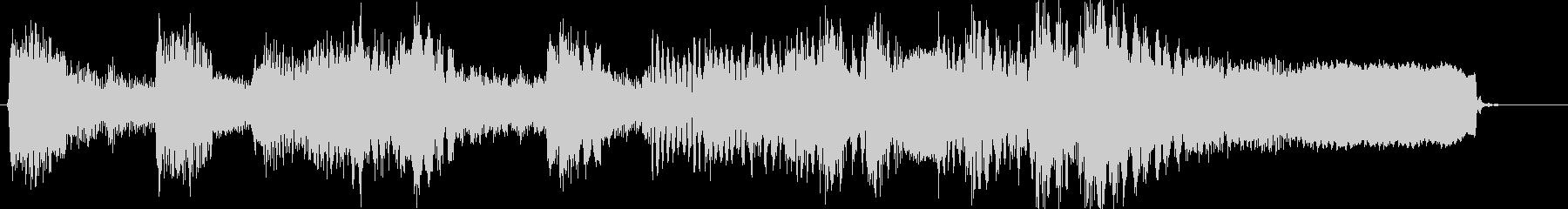 和風琴尺八で勢いのある戦国風のジングルの未再生の波形