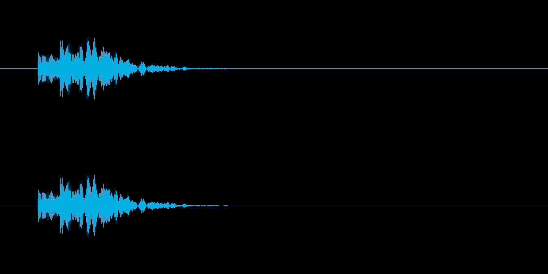 汎用カーソルSE_コミカルSEの再生済みの波形