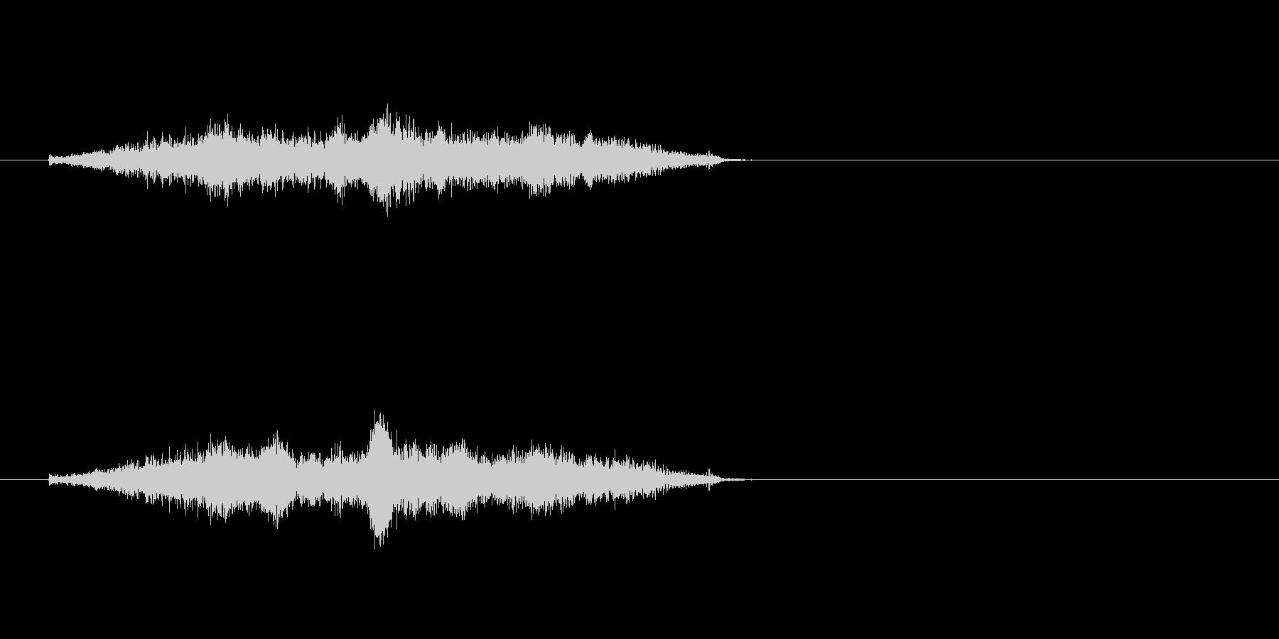 生音 三味線 コスリ ダウンの未再生の波形