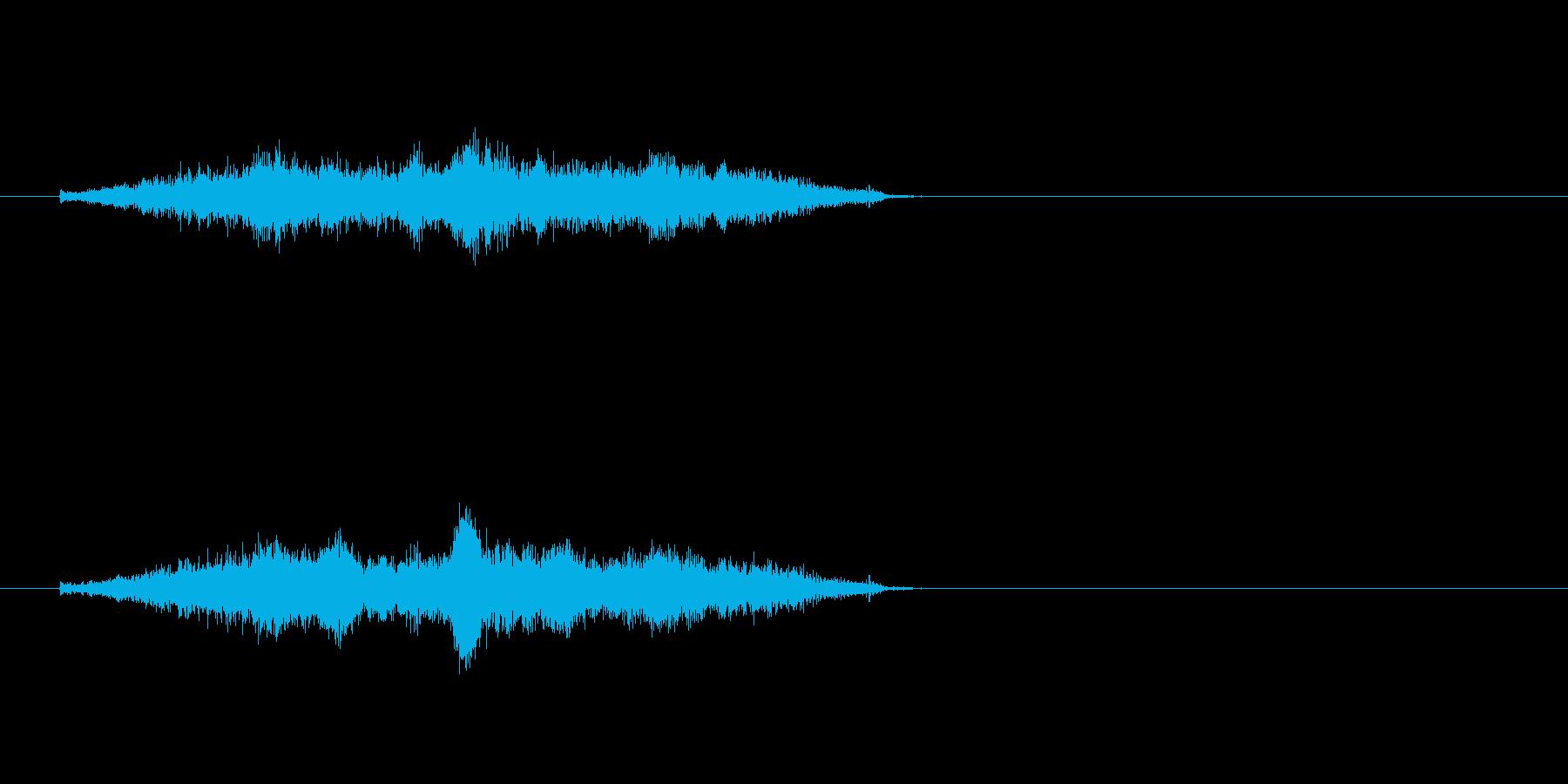 生音 三味線 コスリ ダウンの再生済みの波形