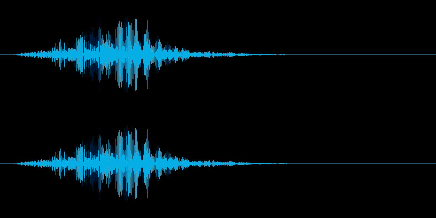 不気味に響く声らしき音…の再生済みの波形
