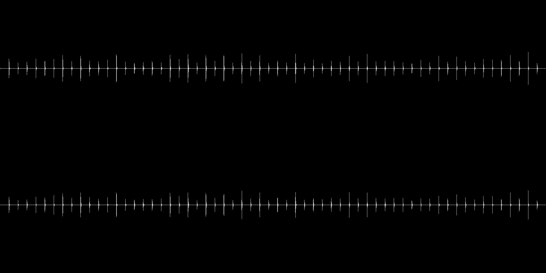 時計の秒針の音(1分)チッチッチ・・・の未再生の波形