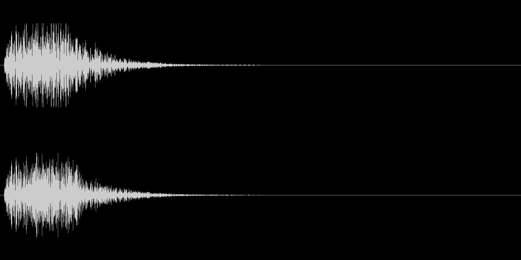 SFの効果音(開閉音などに)の未再生の波形