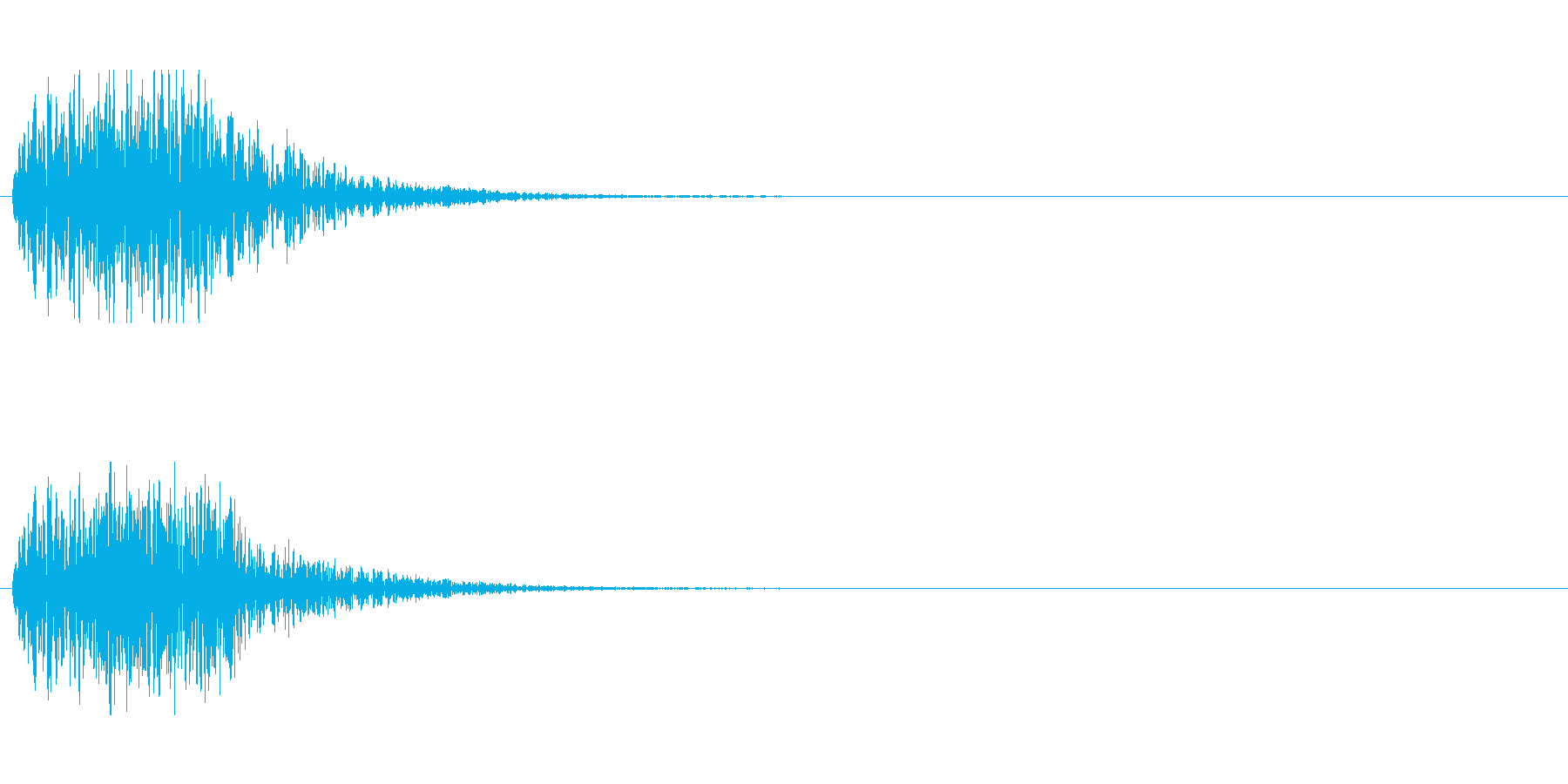 SFの効果音(開閉音などに)の再生済みの波形