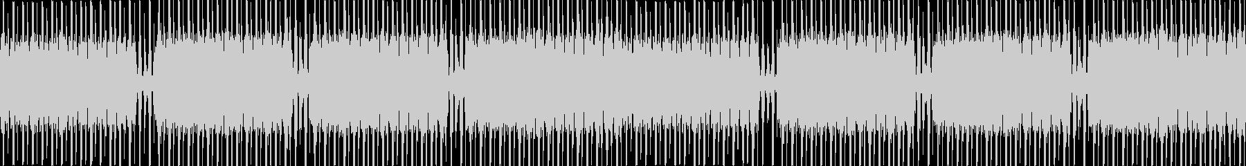Loop仕様のテクノミュージックの未再生の波形