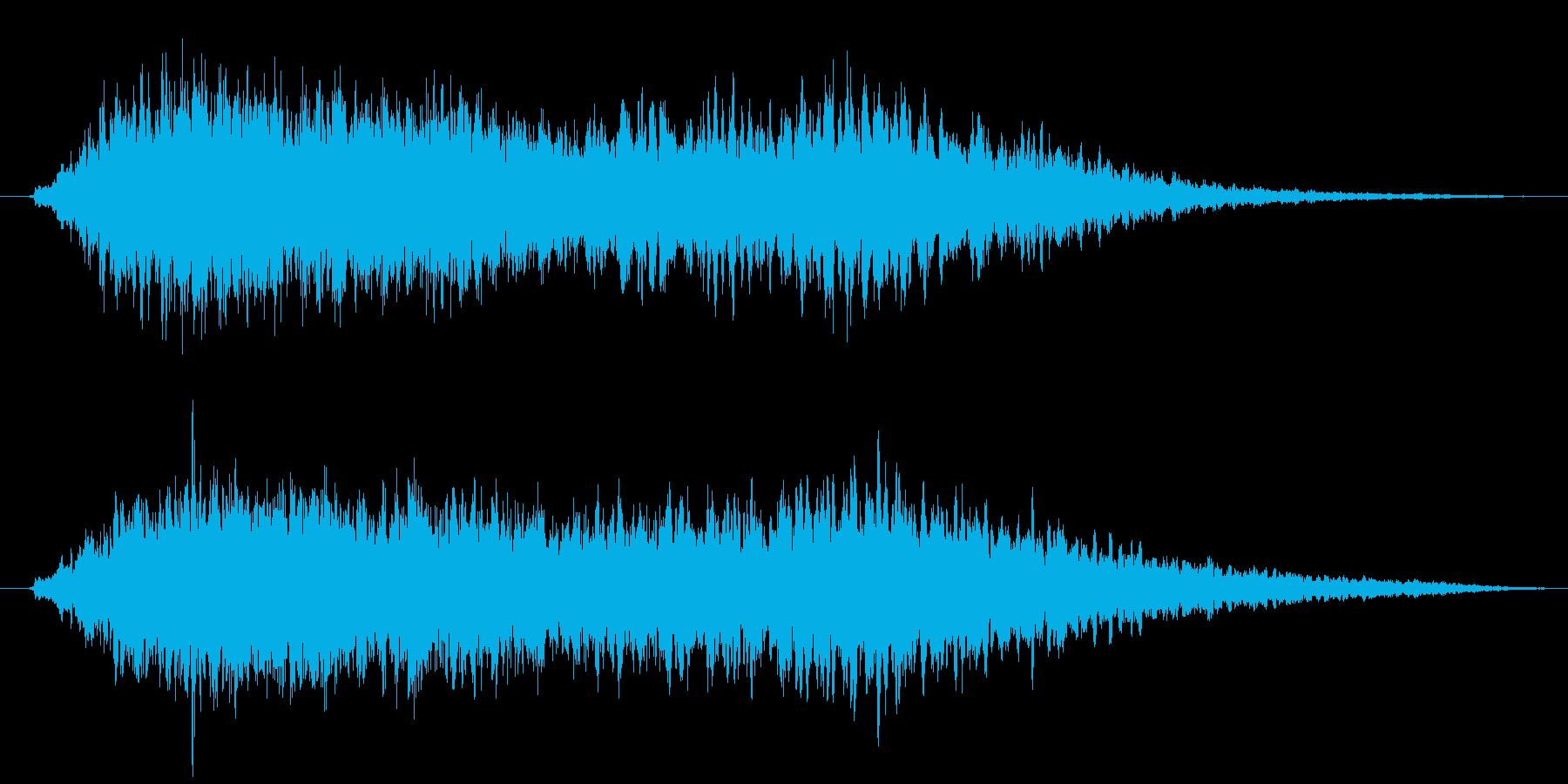 ふわふわした雰囲気のヒーリングBGMの再生済みの波形