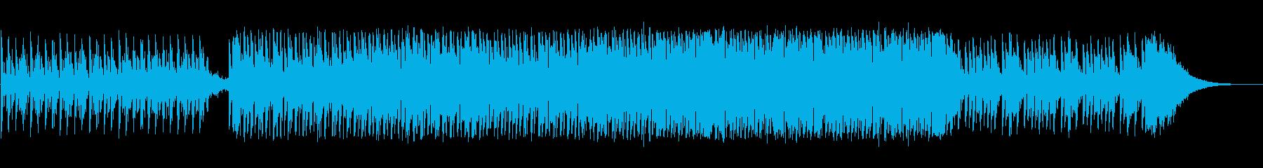 アップテンポなシンセミュージックの再生済みの波形