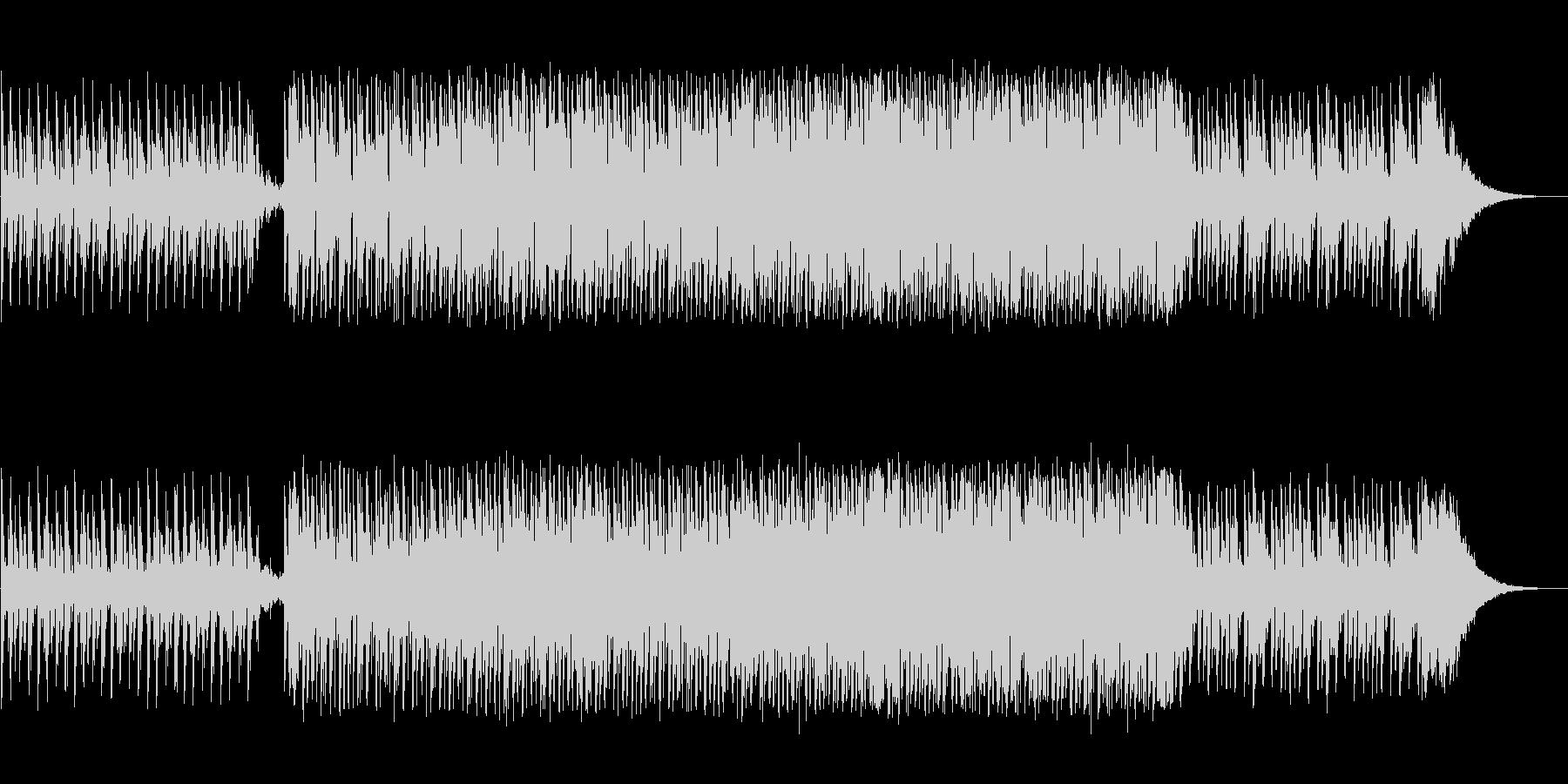 アップテンポなシンセミュージックの未再生の波形