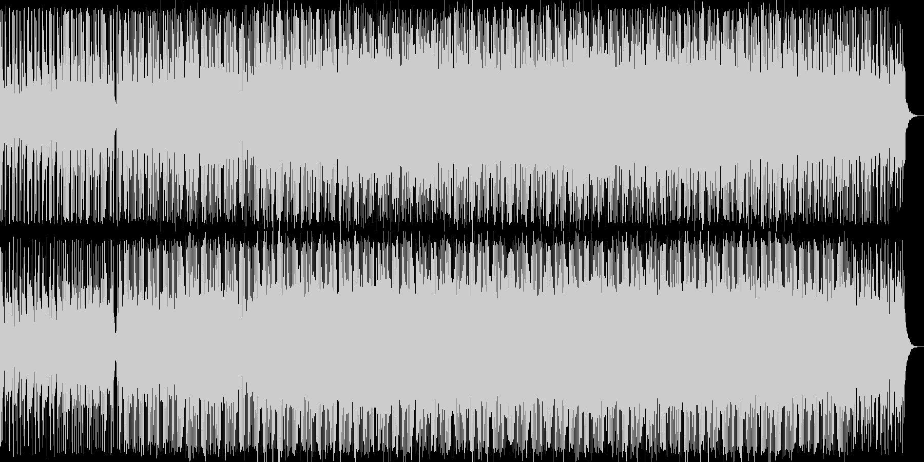 浮遊感ある重厚なテクノ音の未再生の波形