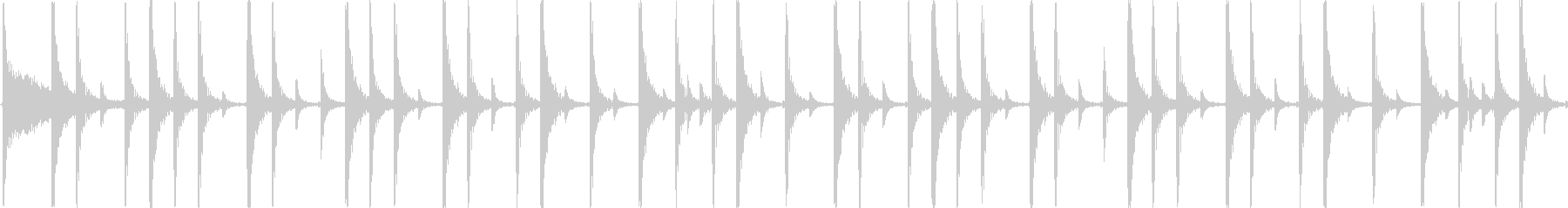 ロックのドラムをイメージした楽曲です。の未再生の波形
