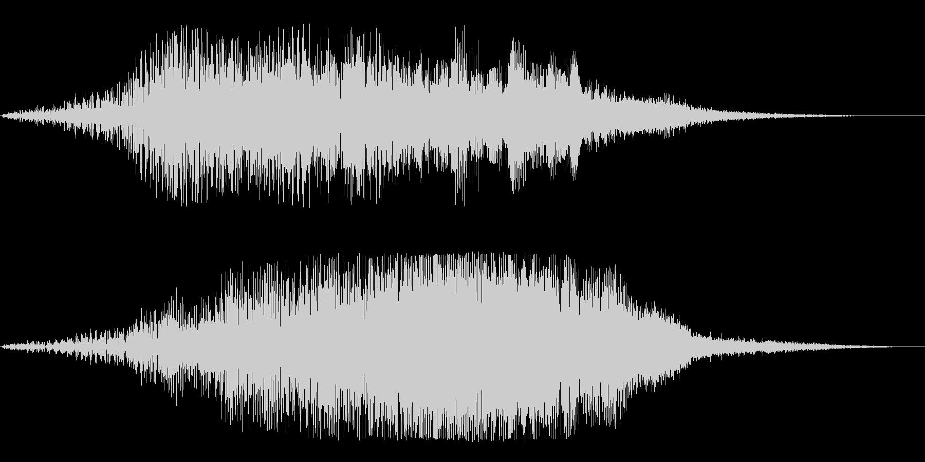 メニュー画面の音(パソコン、ゲーム)の未再生の波形