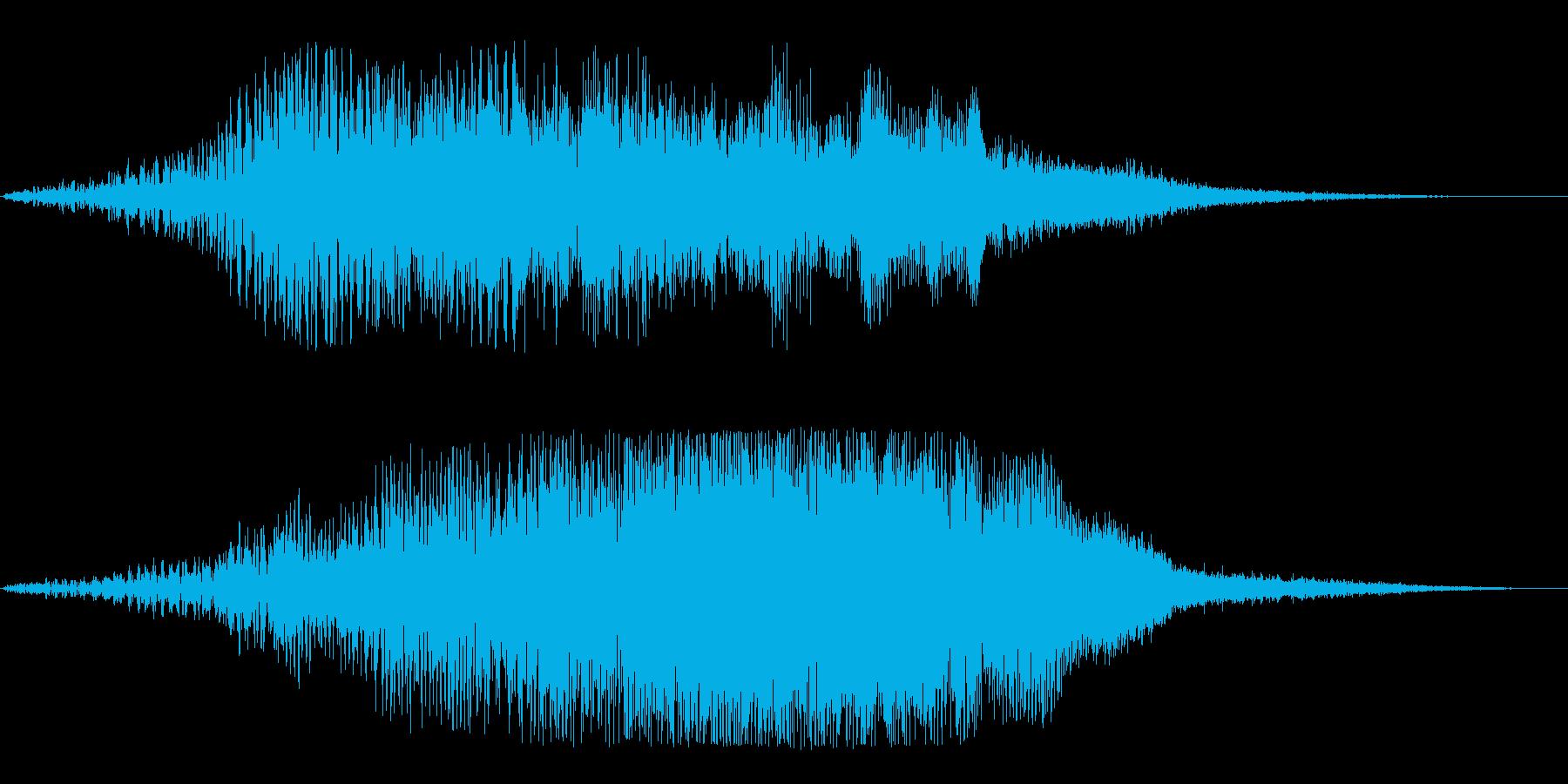 メニュー画面の音(パソコン、ゲーム)の再生済みの波形