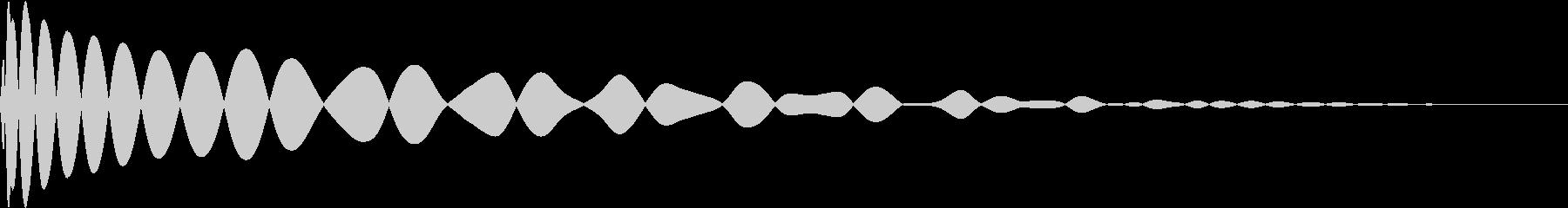 DTM Kick 100 オリジナル音源の未再生の波形