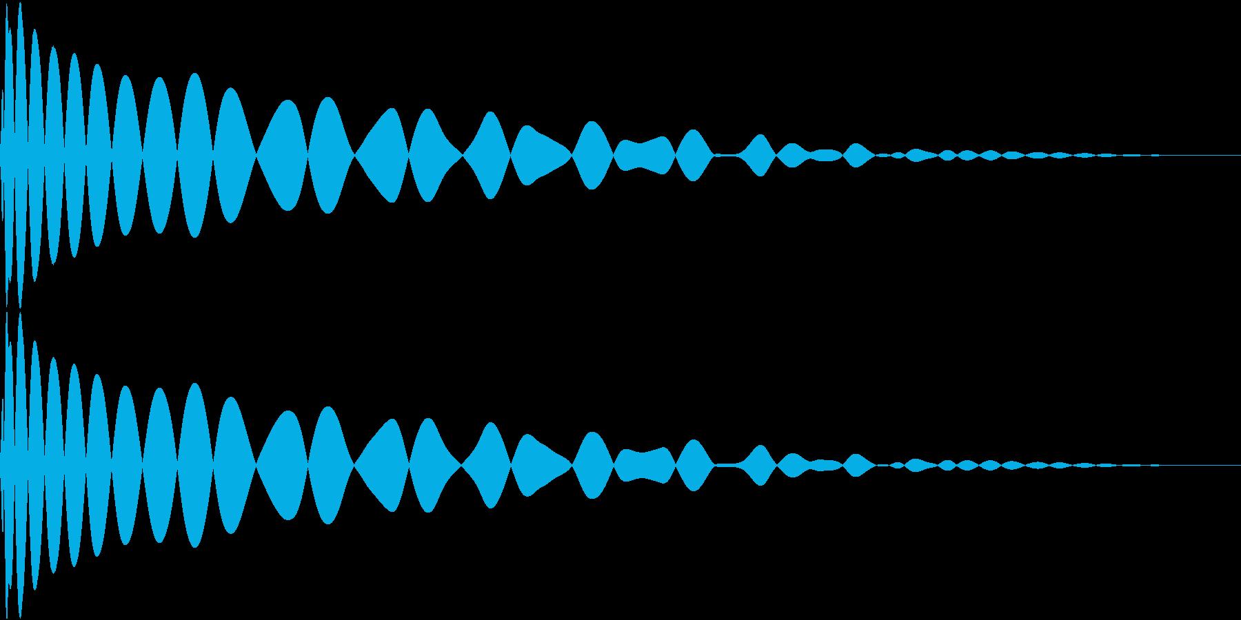 DTM Kick 100 オリジナル音源の再生済みの波形