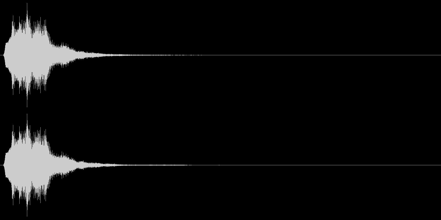 キラリンの未再生の波形