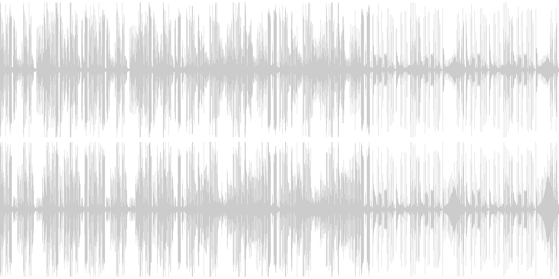 機械的で怪しげな曲の未再生の波形
