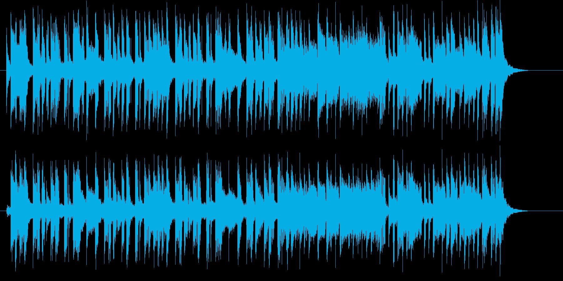 ブラスとシンセのゆったりとしたポップ曲の再生済みの波形