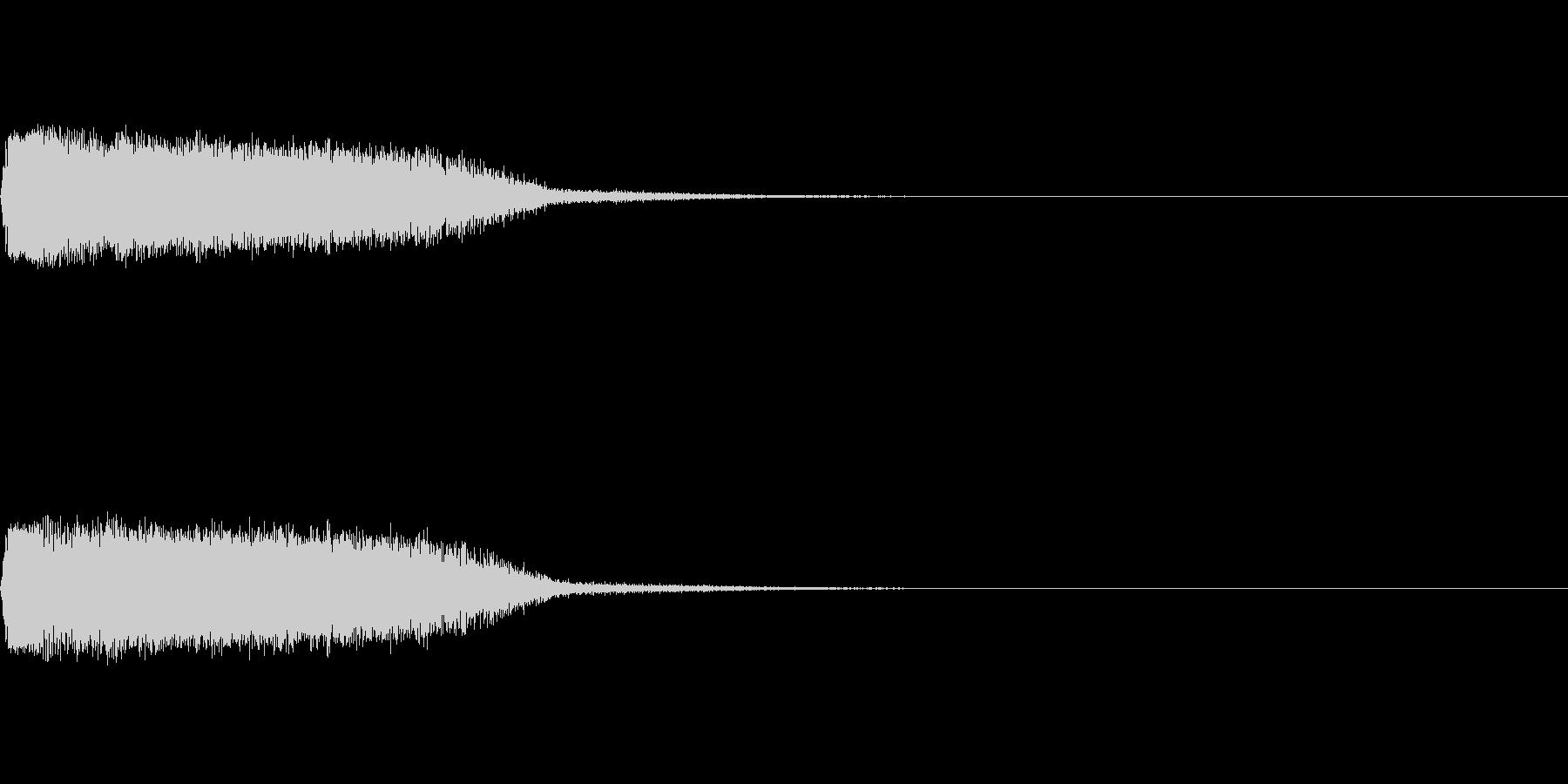 剣と剣が交わる音の未再生の波形