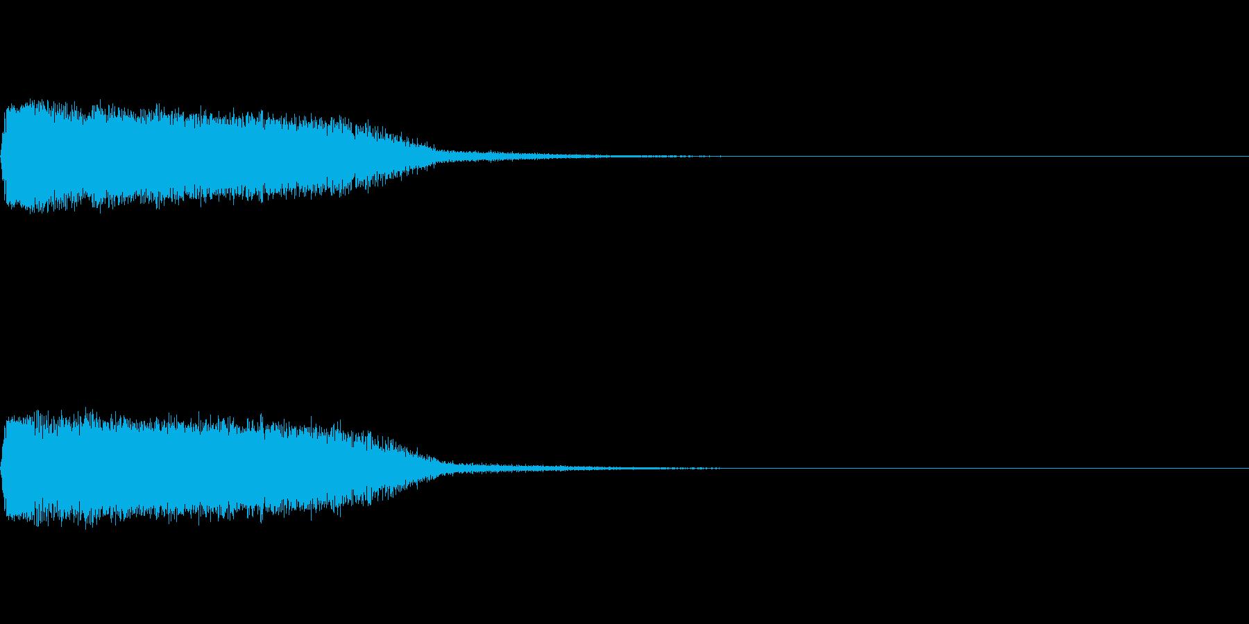 剣と剣が交わる音の再生済みの波形
