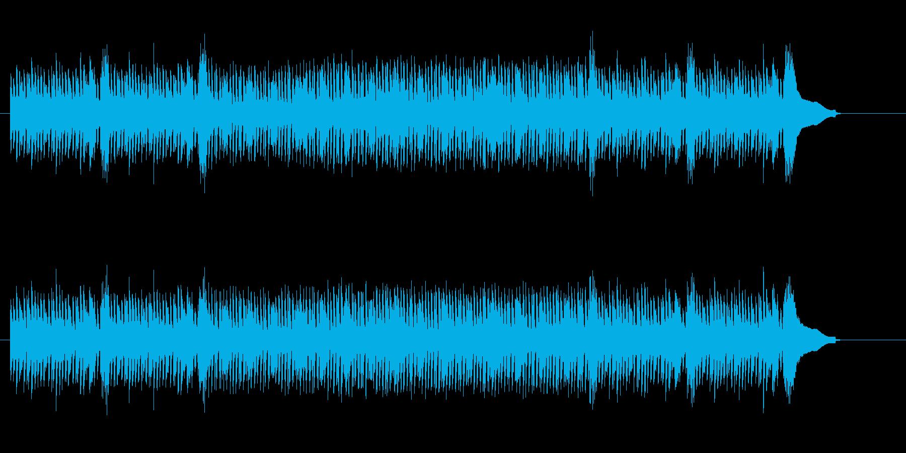 異種交配型アップ・ビート・ロックの再生済みの波形